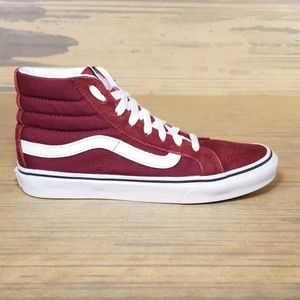 Vans Maroon Sk8-Hi Sneakers